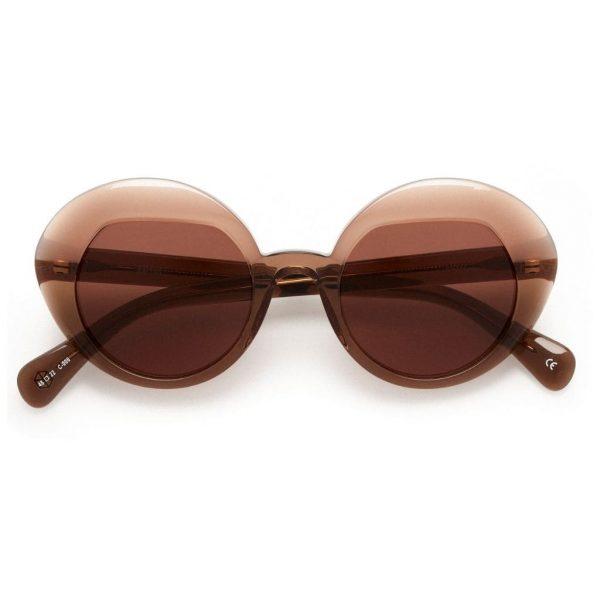 sunglasses-kaleos-parker-transparent-brown-front